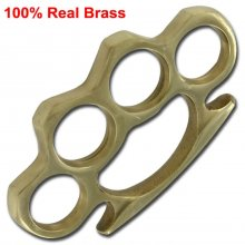"100% Brass Solid Brass Knuckles - ""Rough Cut"""