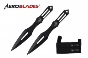 Black Widow Throwing Knife Set w/ Wrist Sheath