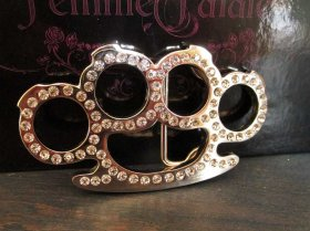 Jewel Knuckles Belt Buckle
