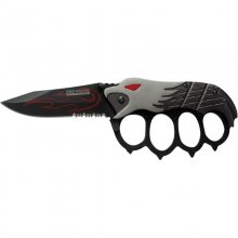 """Eagle Eye"" Folding Knuckles Knife - Gray"