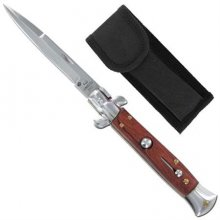 Italian Stilletto - Automatic Knife Switchblade - Wood