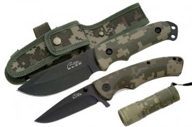 Field Operations Knife Set w/ Digital Camo - 4 Pc. Combo