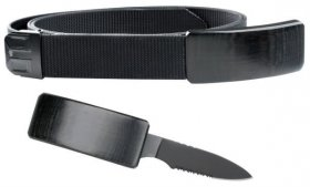 Web Belt With Secret Hidden Knife