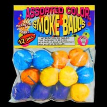 Emergency Color Smoke Balls: 12 Piece Bag