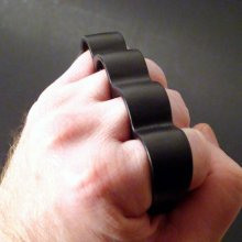 Wide Top Knuckles - Flat Black - SMALL