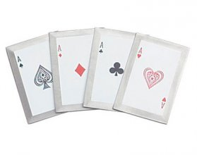 """4 of a Kind"" 4 Piece Throwing Cards"