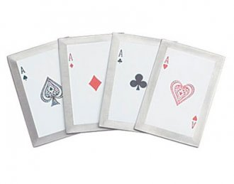 """4 of a Kind\"" 4 Piece Throwing Cards"