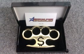 'Pay Up' - Custom Made Brass Knuckles