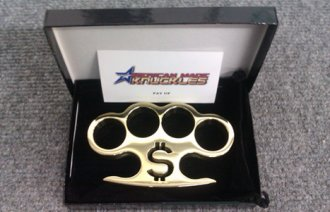 \'Pay Up\' - Custom Made Brass Knuckles
