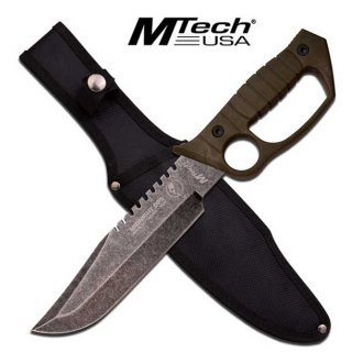 Infantry Combat Knuckle Knife - Army Green