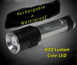 Z-BRiTE® Rechargable Flashlight - 800 Lumens - Waterproof