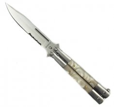 White Pearl Butterfly Knife