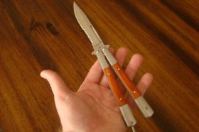 Rosewood Butterfly Knife