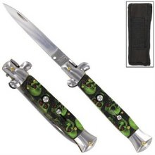 """Italian Stilletto"" Switchblade - ZOMBIE SKULL"