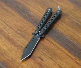 Modern Bench Butterfly Knife - Tanto - Black