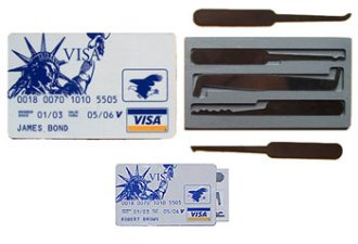 CIA Credit Card Lock Pick Set