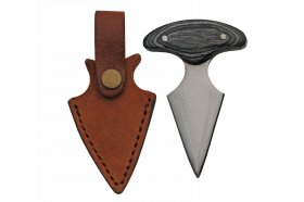Heart Attack Push Dagger - Genuine Leather - Ebony Wood