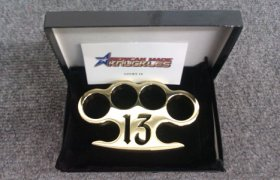 'Lucky 13' - Custom Made Brass Knuckles