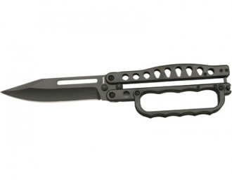 Knuckles Butterfly Knife - Flat Black