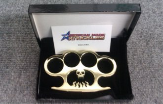 \'Hellfire\' Custom Brass Knuckles