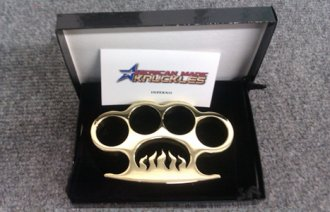 \'Inferno\' - Custom Made Brass Knuckles