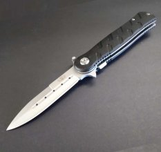 """Night Ops"" Spring Assist Knife - Spear Point Blade"