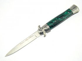 Chrome Handmade Milano Stiletto - Green