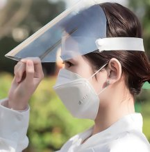 Splash Proof Protective Mask - Full Face Clear Plastic Guard