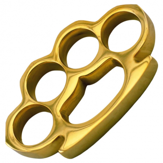 "Solid Brass Knuckles - 100% Brass - 1/2"" Thick"