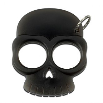 Skull Punch Key Chain - Black
