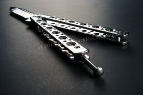 Modern Bench Butterfly Knife - Tanto - Stainless Steel
