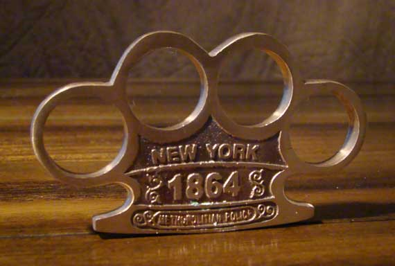 NEW! 1864 New York Copper Knuckles - 100% SOLID
