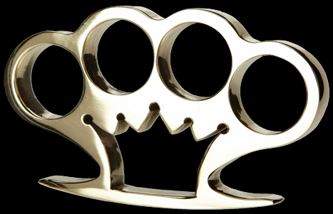 Crown brass knuckles