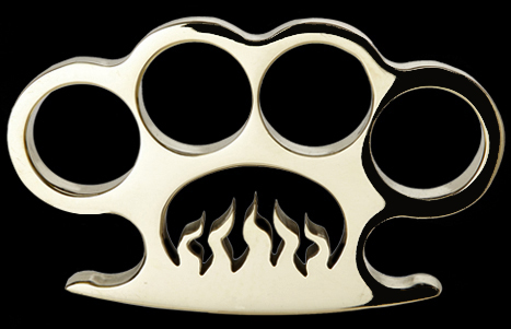 Inferno custom made brass knuckles