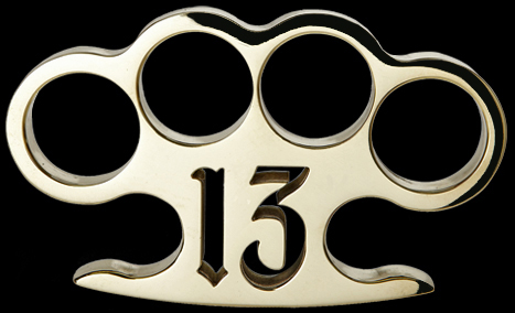 Lucky 13 custom brass knuckles