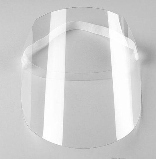 Adult size adjustable transparent  plastic mask