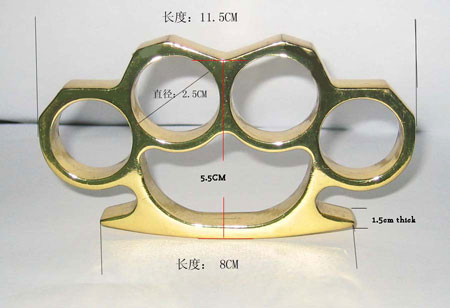 Classic brass knuckles bkc 001 brass for Brass knuckles template