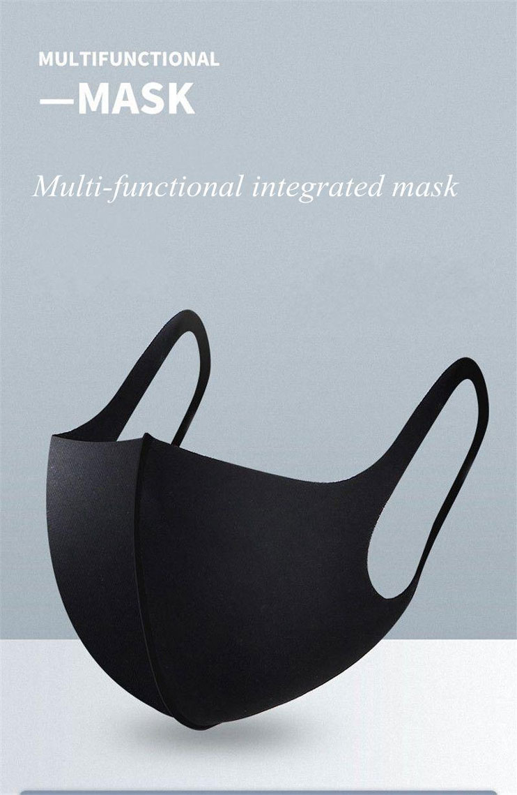 Multi functional wasable reusable foam filter face mask