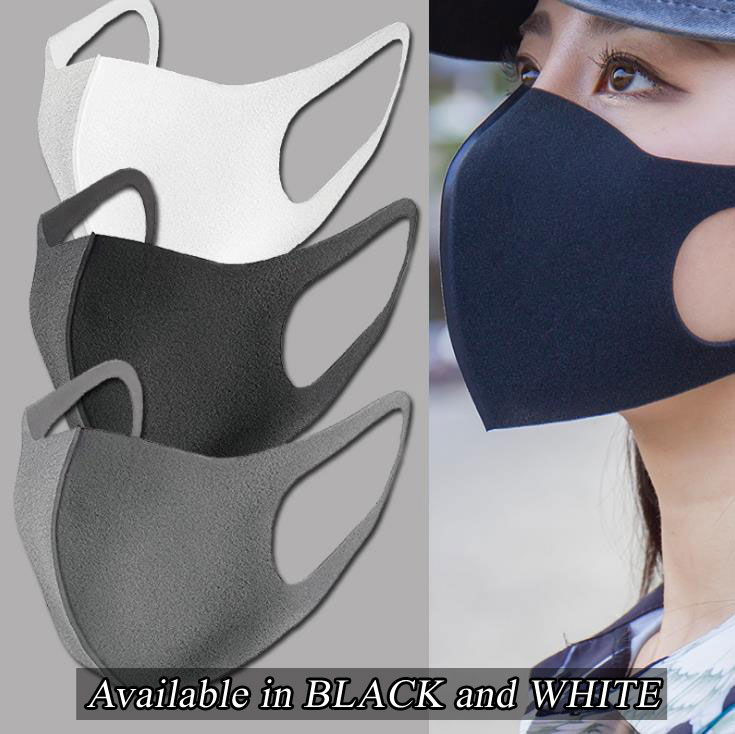 3M foam reusable face mask in color black or white